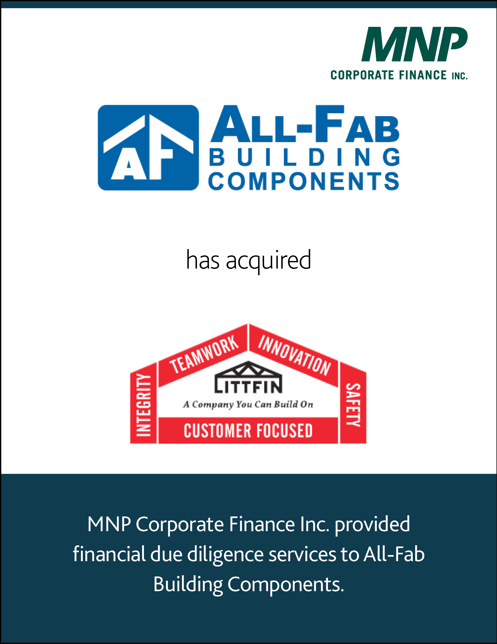 All-Fab Building Components has acquired Littfin