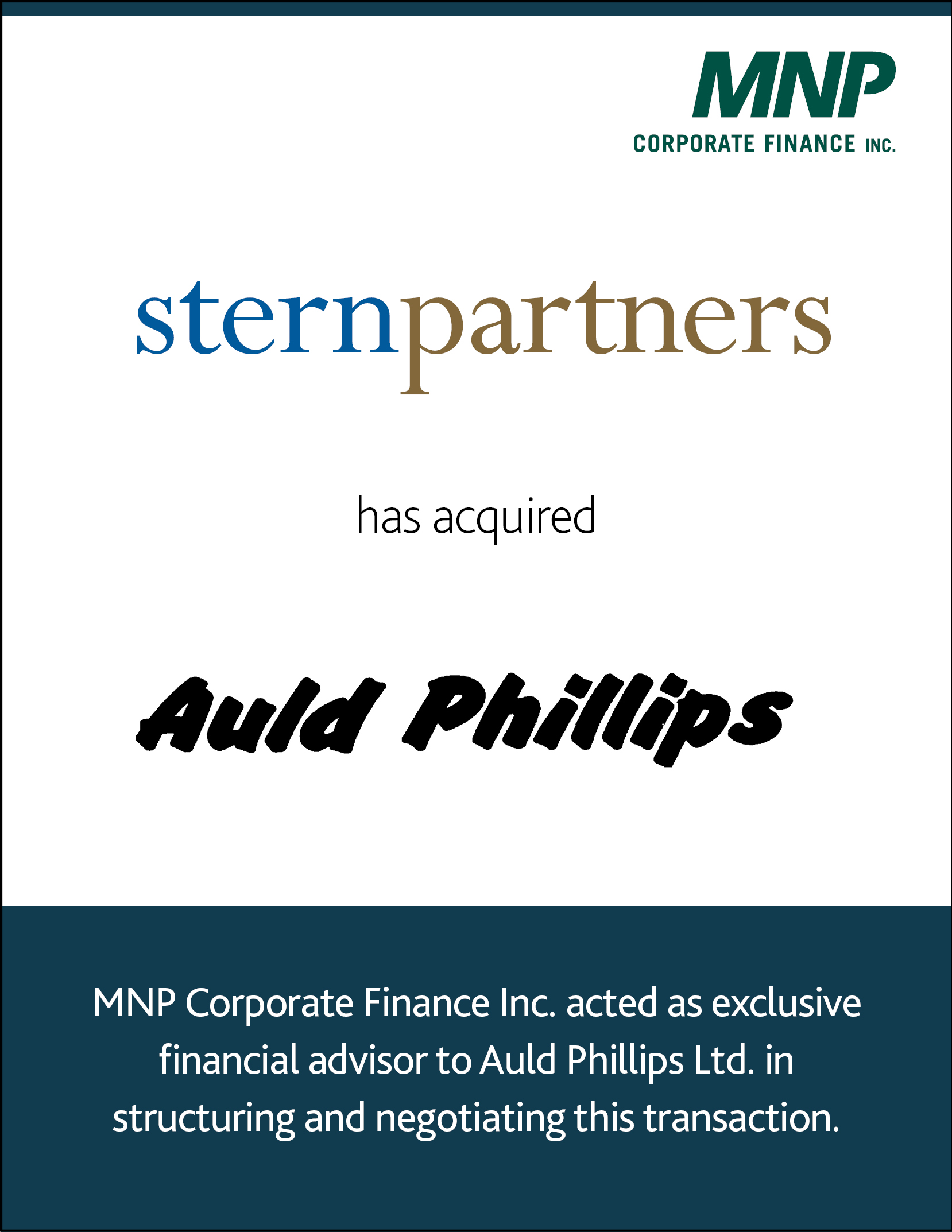 Stern Partners has acquired Auld Phillips