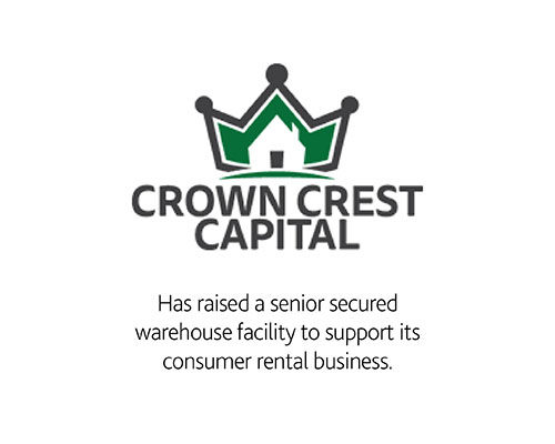 Crown Crest Capital Has raised a senior secured warehouse facility to support its consumer rental business