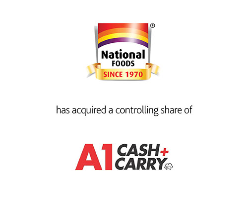 National Foods has acquired a controlling share of A-1 Bags & Supplies Inc.