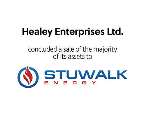 Healey Enterprises Ltd concluded a sale of the majority of its assets to Stuwalk energy